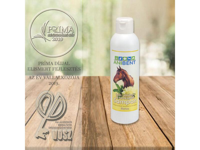 Szőr-, sörény-, és farokápoló sampon lovak részére - Bodzavirág illatú