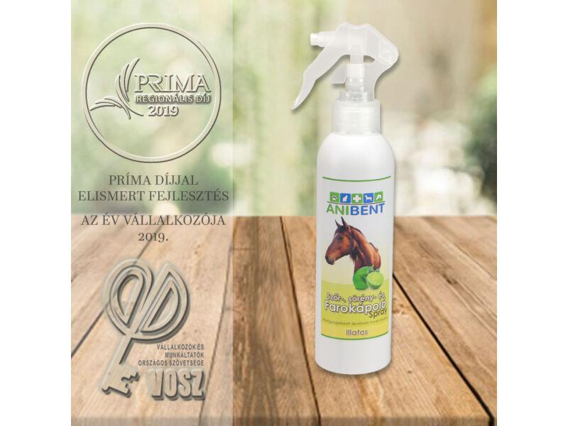 Szőr-, sörény-, és farokápoló spray lovak részére - illatos