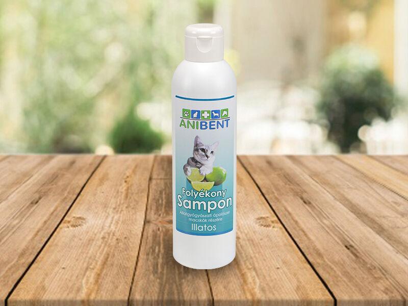 Folyékony sampon macskáknak - zöldcitrom illatú